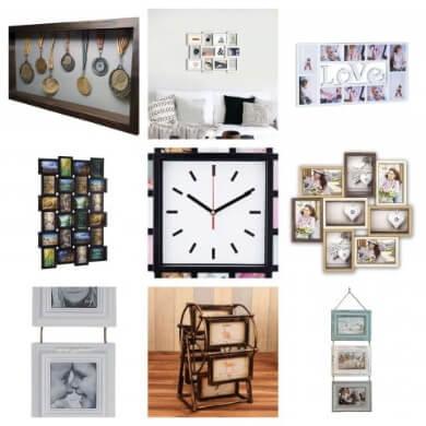 marcos de fotos de cuadros de relojes todo tipo material colores