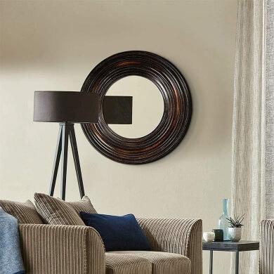 espejo marco madera elegante diseño moderno lujo