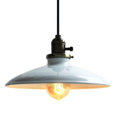 lampara estilo industrial lacado luz led