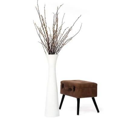 Jarron de suelo grande blanco florero flore secas decoracion salon comedor pasillo recibidor hogar local comercial