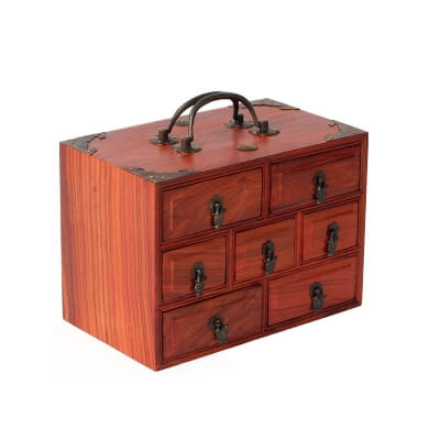 baul joyero madera antiguo vintage
