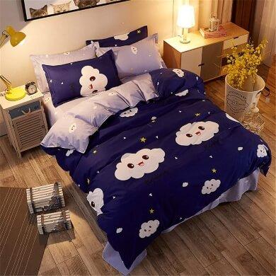 ropa de cama infantil nubes sabanas edredón almohada