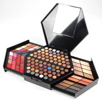 maquillaje mujer kit maletin sombras colores