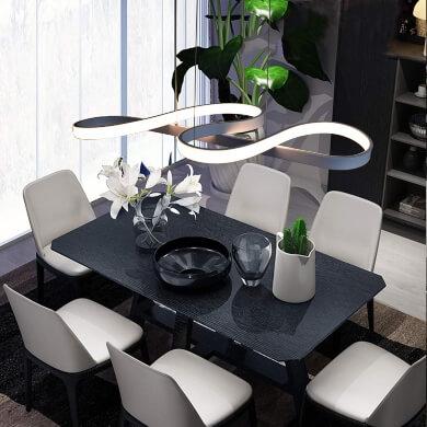 decoracion de interiores lamparas de comedor modernas