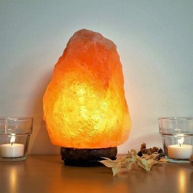 Lámpara de Sal purifica ambiente luz agradable himalaya natural mesilla de noche mesa decorativo iluminación