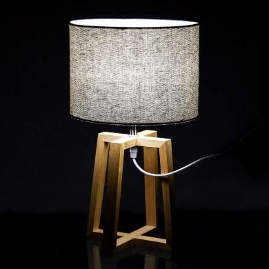 Lámparas de Mesilla de Noche de Madera