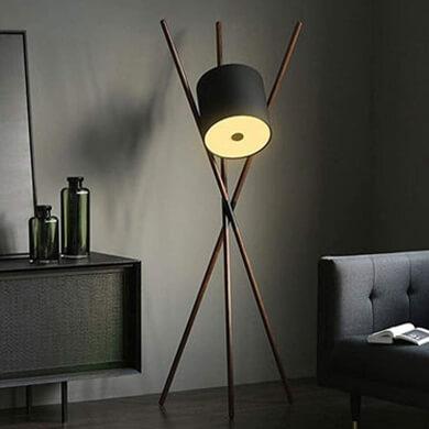 Lámpara pie suelo madera nórdico minimalista industrial nautico elegante salon comedor en oferta compra desde casa