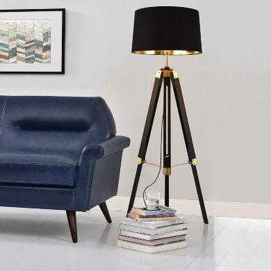 Lámpara de pie Trípode Graduable Moderna Diseño salon comedor