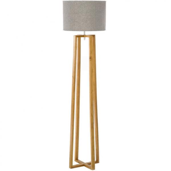 Decoracion nordica modelo nordico lampara salon madera y tela