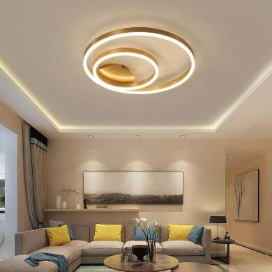 Lámparas Led con mando a distancia en forma de anillos de techo salon cocina baño recibidor pasillo comedor dormitorio hoteles restaurantes bares hogar