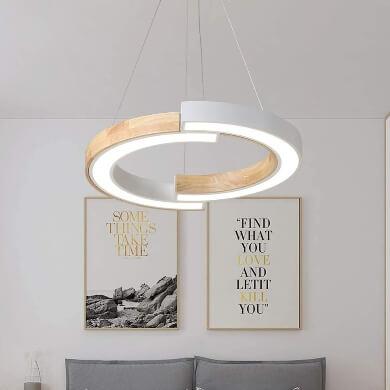 lámpara blanco techo madera elegante diseño moda tendencia salón comedor restaurante bar hogar regalo