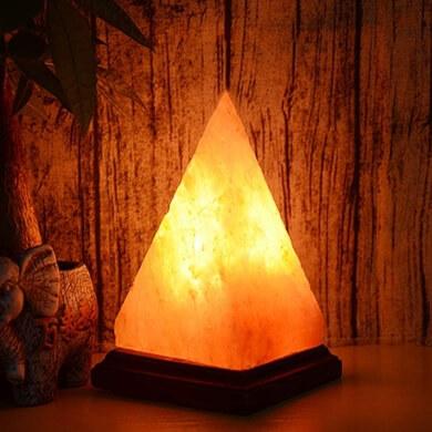 Lampara De Sal del Himalaya Piramide Totalmente Natural Y Hecha A Mano