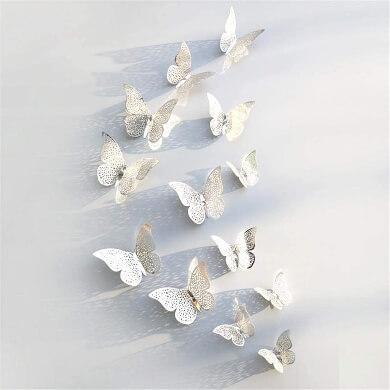 Mariposas adhesivas paredes baños salones aulas colegiso locales comerciales hoteles restaurantes