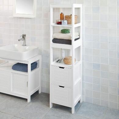 Muebles de baño auxiliares cajones baldas repisas botiquin puertas columnas