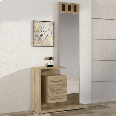 recibidor con espejo integrado comodidad elegancia moda ofertas