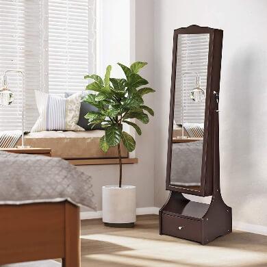 mueble armario joyero espejo ,luz led de pie dormitorio