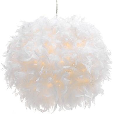 lampara techo decorativa plumas hecho mano diseño original regalo