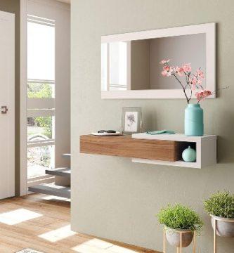 Recibidor espejo entrada moderno largo redondo oferta online
