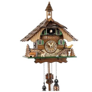 Reloj de cuarzo de pared selva negra alemania madera autentico original