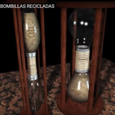 bombillas recicladas relojes de arena manualidades para toda la familia