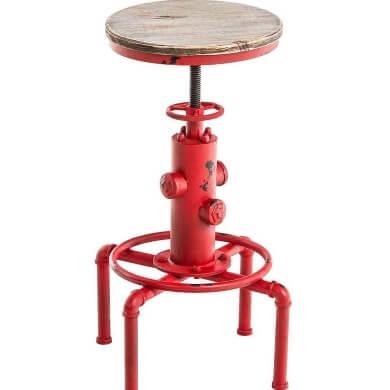 taburete metal asiento madera paras respaldo comodidad diseño confort
