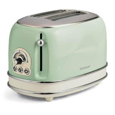 tostadora cocina retro antigua color verde diseño