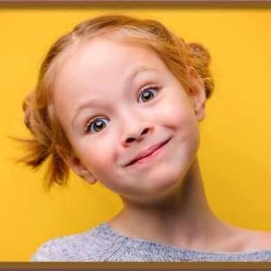 foto niña alegre imagen fotografia