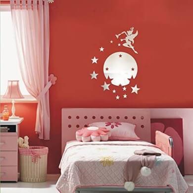 espejos adhesivos motivos infantiles decroacion dormitorios niñas niños