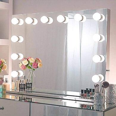 espejos con bombillas LED para maquillaje peluquerias salones de bellesa teatros estudios fotográficos