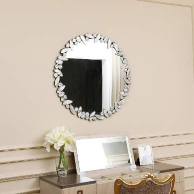 espejo decorativo pared mosaico cristal