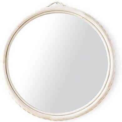 espejo moderno rattan natural blanco compras online ofertas