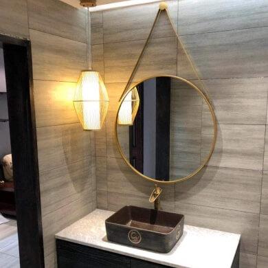 espejo moderno baño redondo vintage barato comprar online
