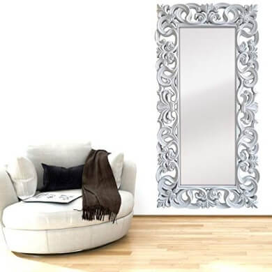 espejo moderno estilo goya hecho en españa color dorado tallado a mano