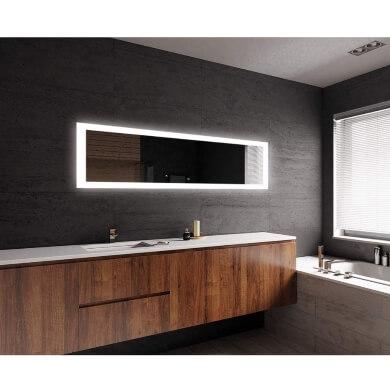 espejos de baño de diseño con luz led  interruptor táctil comprar online ofertas pagos a plazos