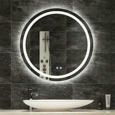 espejos redondos retroiluminados luces led baños hoteles departamento casas pisos chalets hoteles colegios