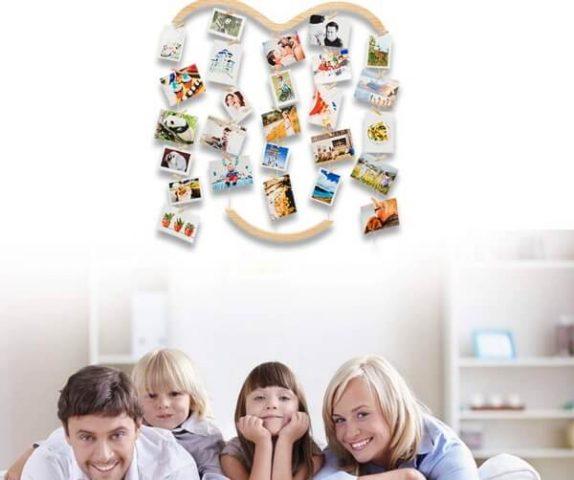 cuadros para fotos de amor en familia con pinzas