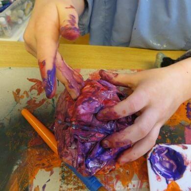 manualidades para niñ@s pintura acuarelas colores diversion