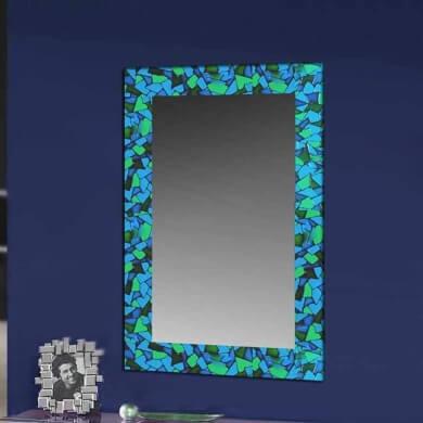 manualidades fáciles marco de espejos cuadros fotos revestido estilo mosaico