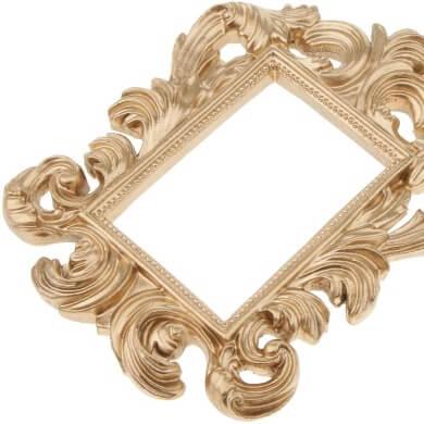 marcos dorados vintage retro rococo decorativo