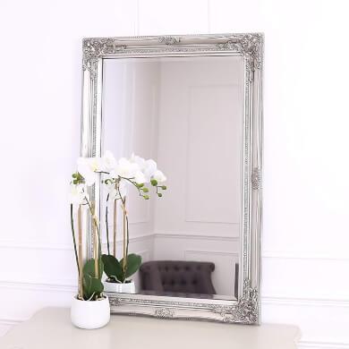 marco plateado para espejos fotos lienzos pinturas Estilo Barroco Vintage Retro marcos decorados