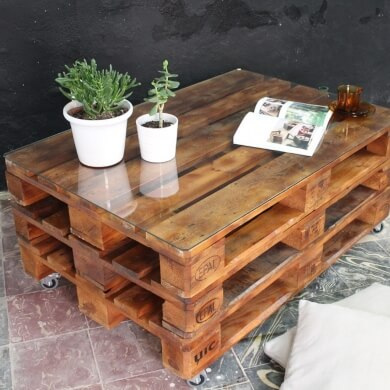 reciclar palets muebles decoracion rustica industrial