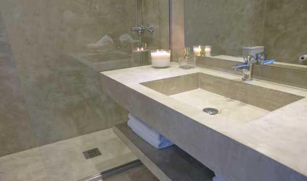 sistema mrv microcemento cemento continuo baño revestimiento