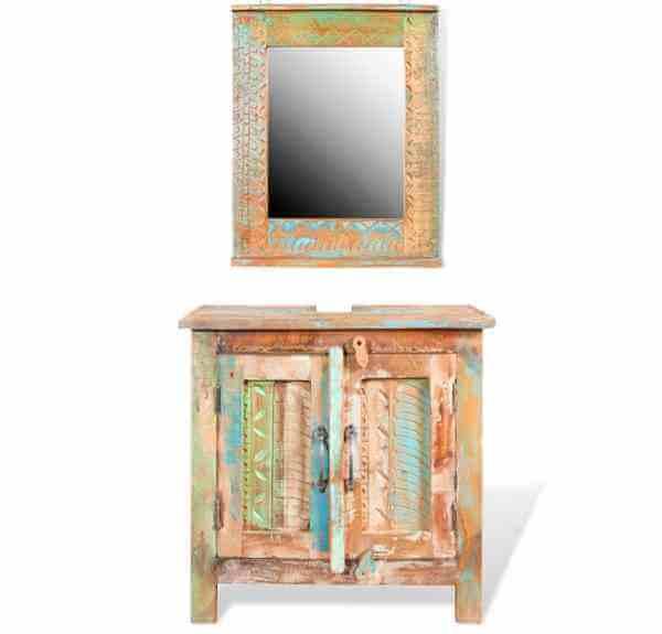 espejo reciclado manualidades hecho a mano decorativo