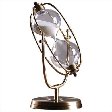 relojes de arena cristal 60 minutos vidrio blanca europeo
