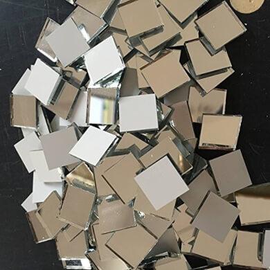 trozos pedazos piezas mosaico materiales para decorar espejos